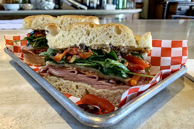 The new muffaletta sandwich being served at J & Tony's