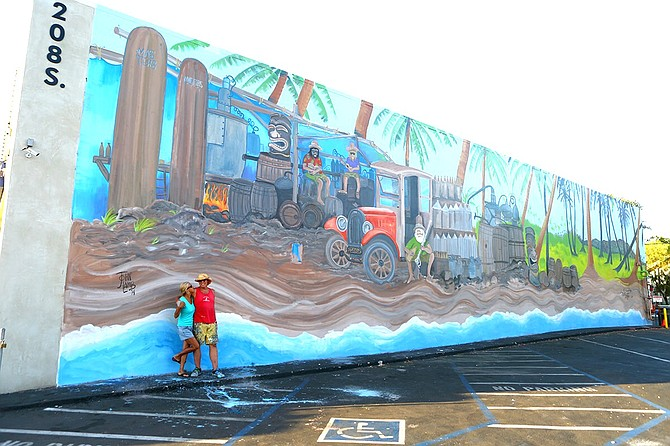 """John Lamb's """"beach-billy"""" mural is no more."""