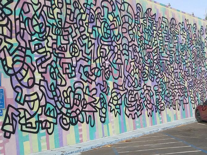"""Carlsbad's Santos """"wiggles"""" replaced Lamb's mural."""