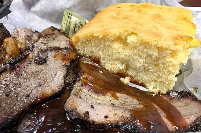 Brisket and corn bread worked out better than fried fish.