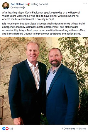Bob Nelson and Kevin Faulconer Facebook post