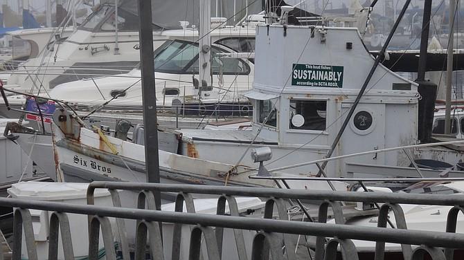 Boats in Santa Barbara Harbor. Shot in 2013 on a vacation.