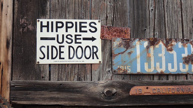 Sign at an antique shop in Santa Barbara. I took this photo in 2013.