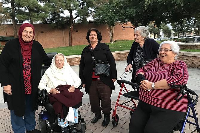 Ladies' club: Hemmat, Kawkab, Samira, Almas, Faeza