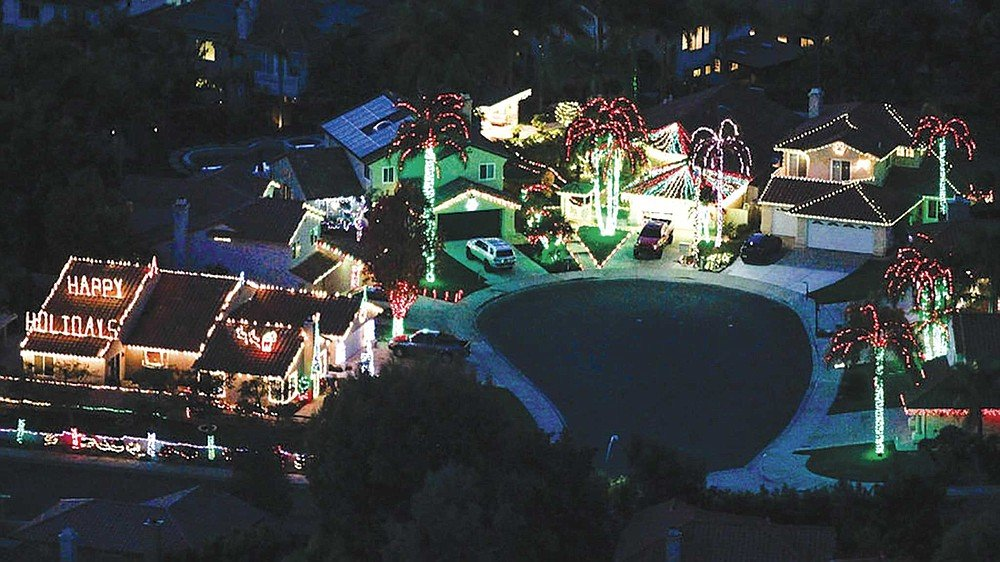 Get a bird's-eye view of holiday lights during a private helicopter tour. Waverider Helicopter Tours offers 30-minute flights over beach towns from Oceanside to Del Mar for $375.