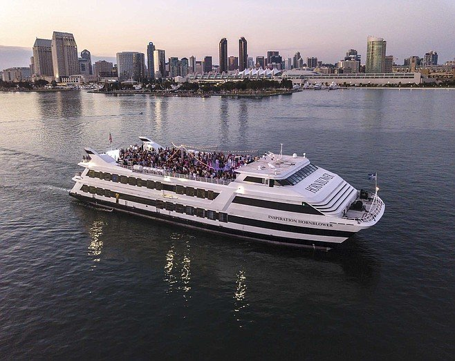 What better way to ring in a new decade than a moonlight cruise aboard Inspiration, Hornblower's $25-million party yacht.