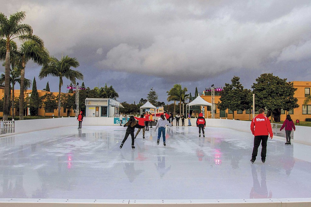 Salute the Season at Liberty Station features Rady Children's Ice Rink on the Central Promenade through January 5, 2020.