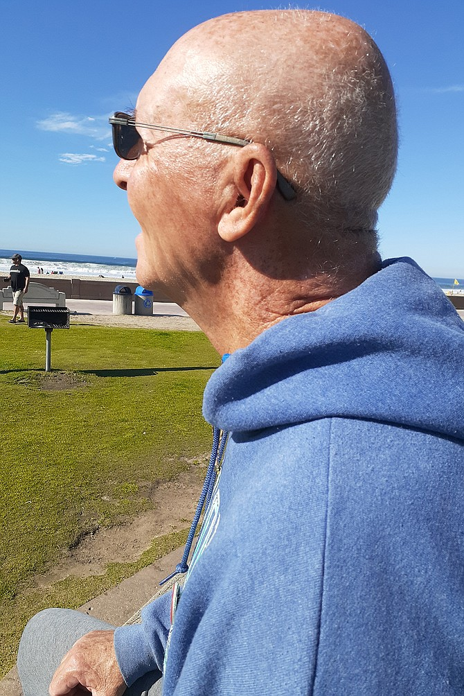 Mission Beach activist Gary Wonacott lobbied to get quieter planes at the airport.