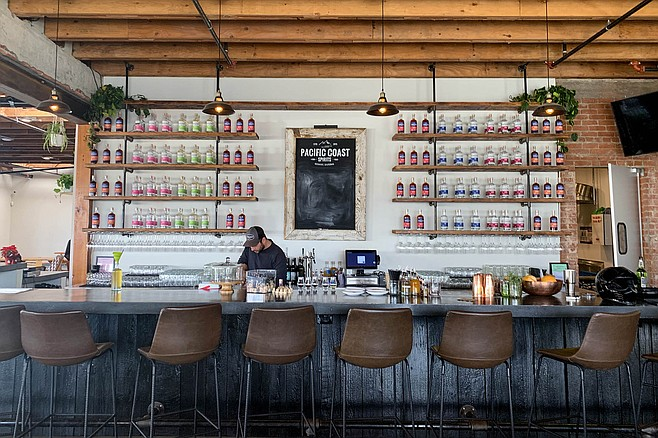 Pacific Coast Spirits serves food, so there are no limits to ordering spirits at the bar.