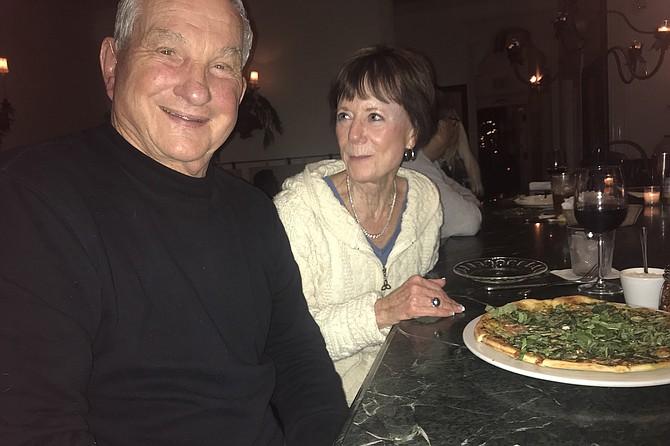 Ed, Linda, focaccia pizza, $8