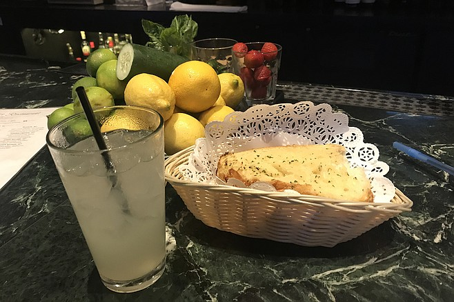 Nice extra - bread, plus genuine-tasting lemonade drink