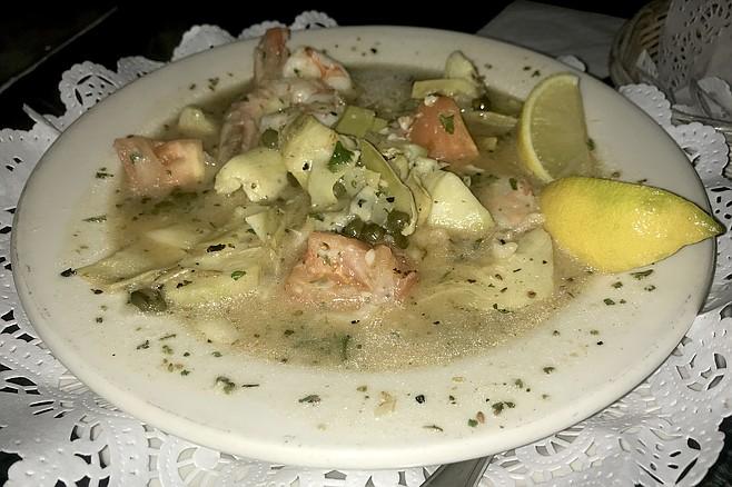 Shrimp and artichoke, $8