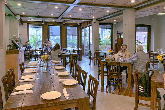 The new dining room of one of Tijuana's most revered contemporary restaurants