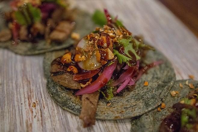 Korean tacos, a Verde y Crema favorite, tasting better than ever