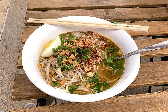Ramen-inspired tom yum noodle soup