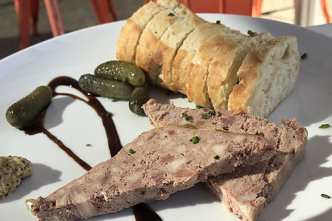 Pate, good-tasting and not bad value at $8. Made in-house
