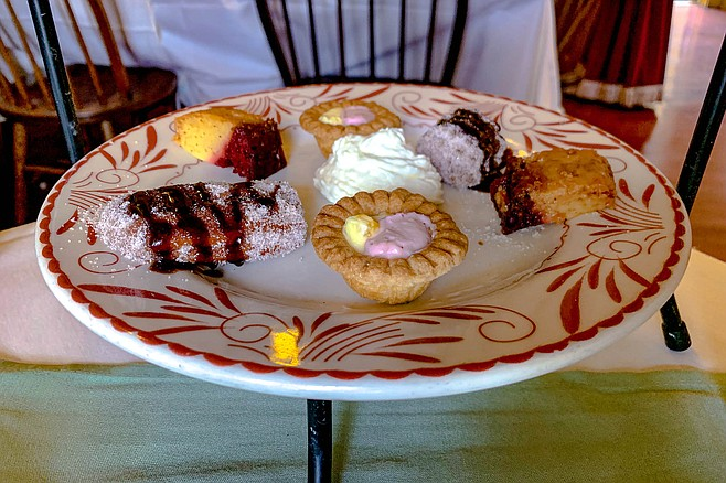 Sweet pastries to conclude tea service