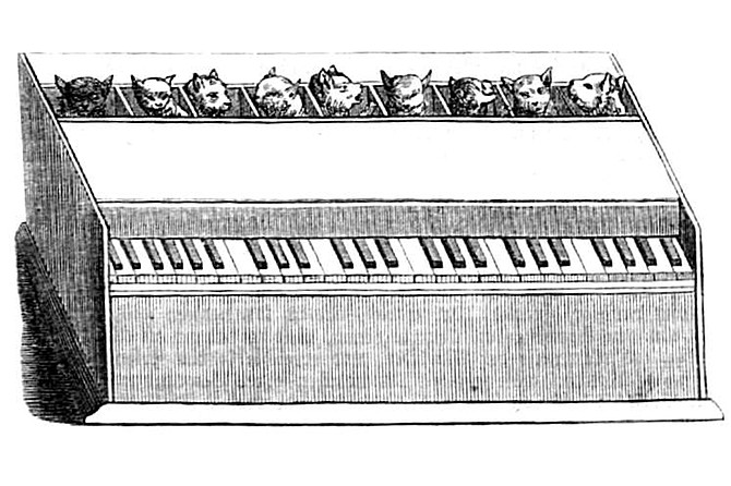 Cat piano: whimsical or monstrous?