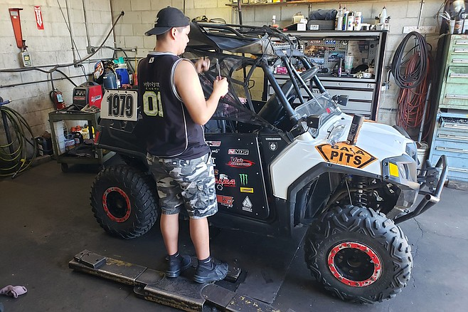 When not driving for Ibarra's Racing out of Calexico, the Mojicas race their own Polaris RZR utility task vehicle.