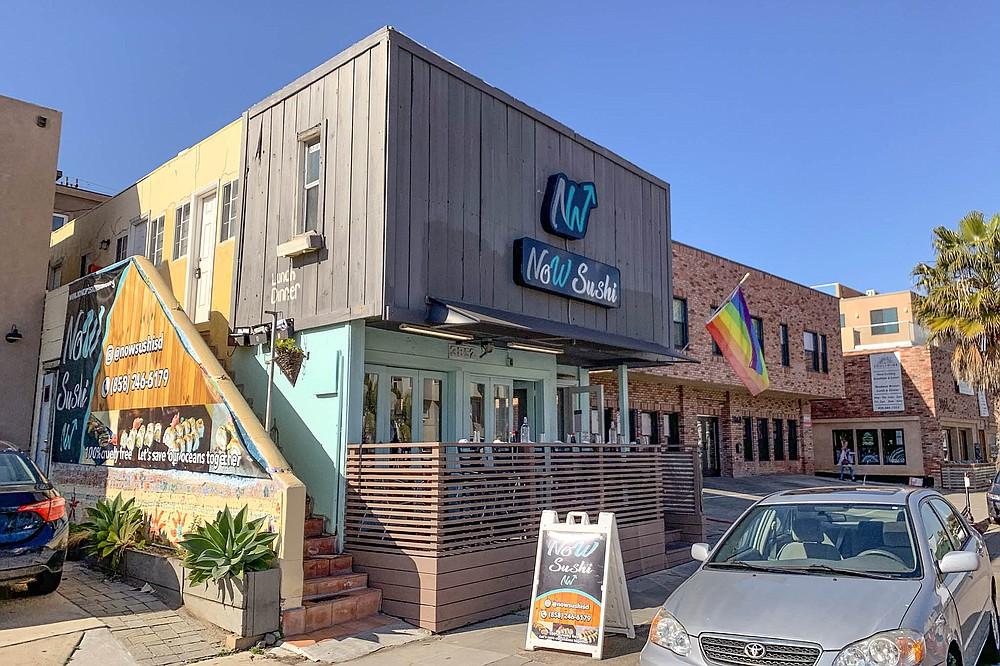 A vegan sushi restaurant in Mission Beach