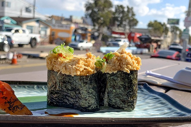 Vegan spicy tuna in on Mission Boulevard