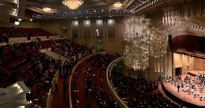 Symphony Hall at intermission