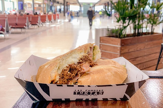 A tasty torta in the Tijuana concourse