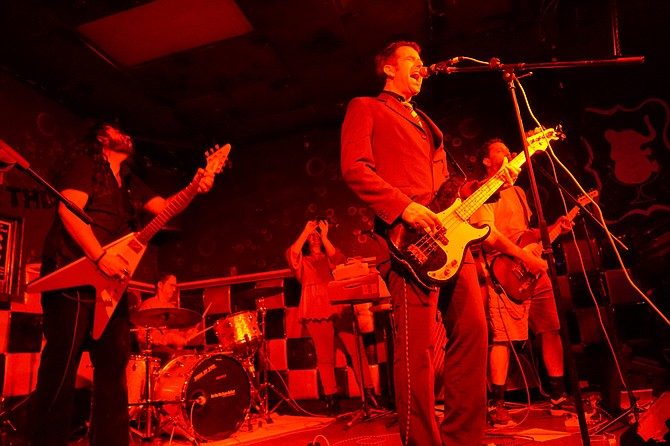 """Super Buffet aims """"to keep it loose and get away with as much as possible,"""" says bassist/singer Pete Bayard."""