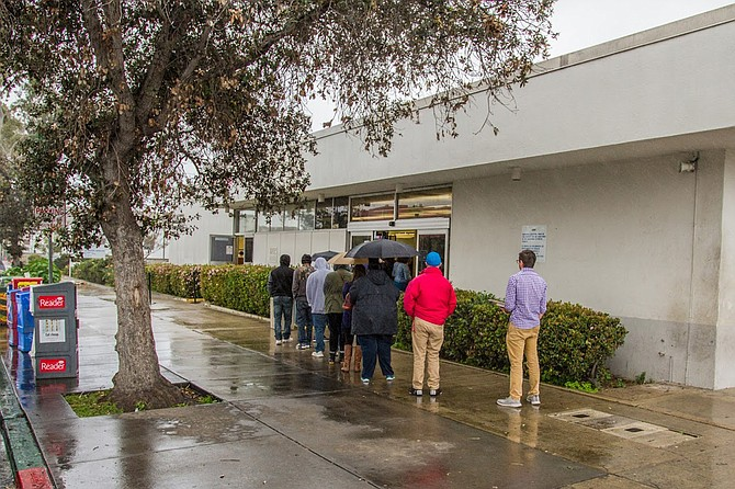 """I hardly ever go there,"" says one local resident of the Hillcrest DMV, ""and it seems like it's just a lot of people lined up on the sidewalk who leave their gum and their cigarettes."""