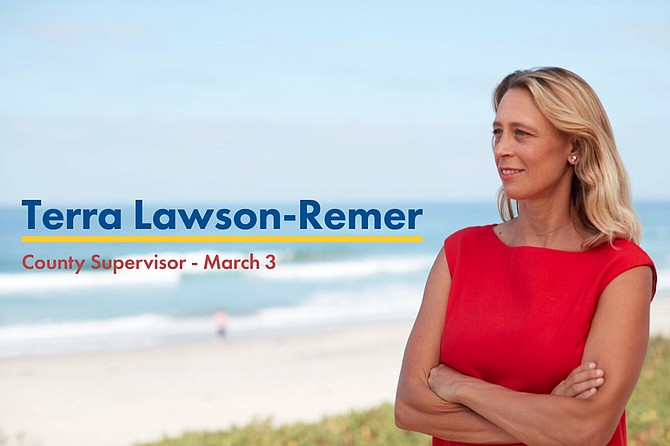 """Juan Vargas: """"I am excited to invite you to my home for an event in support of Terra Lawson-Remer, running to flip the County Board of Supervisors!"""""""