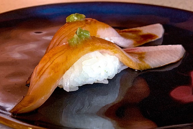 Yellowtail belly, well served at Chef Jun's