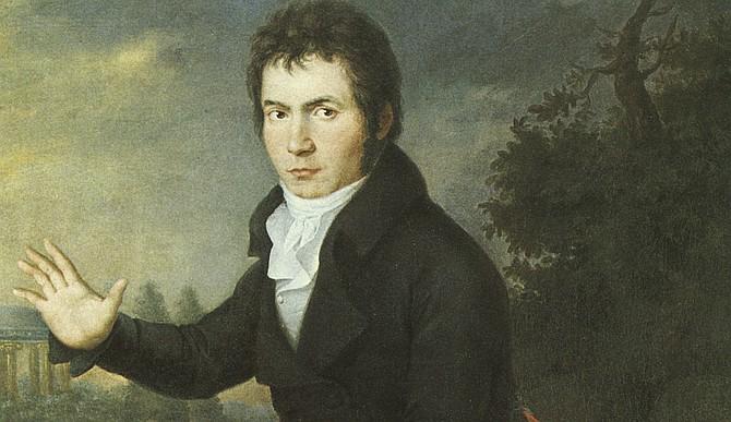 From Joseph Mahler's portrait of Beethoven (1804)