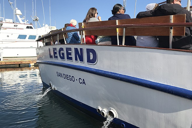 H&M Landing's broad whale-watching boat, Legend.