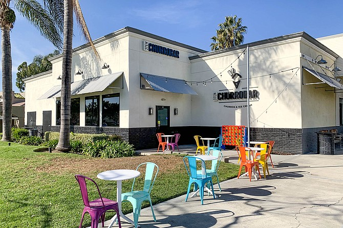 An ice cream shop specializing in churros in Mira Mesa