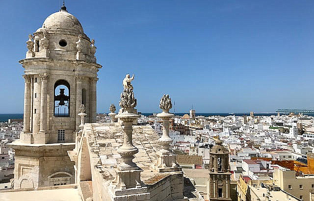 Looking out over the city from the Catedral de Cádiz.