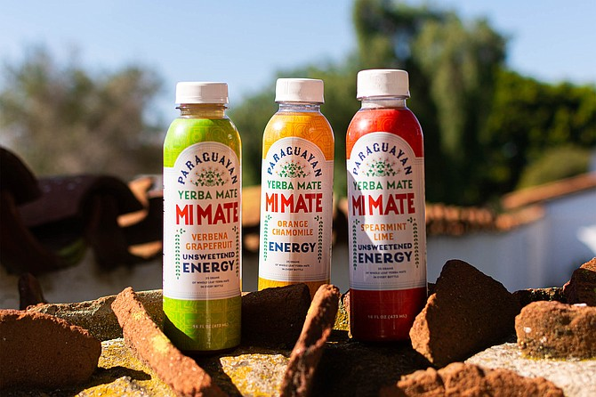 Bottles of Mi Mate, a yerba mate brand launched by UCSD students