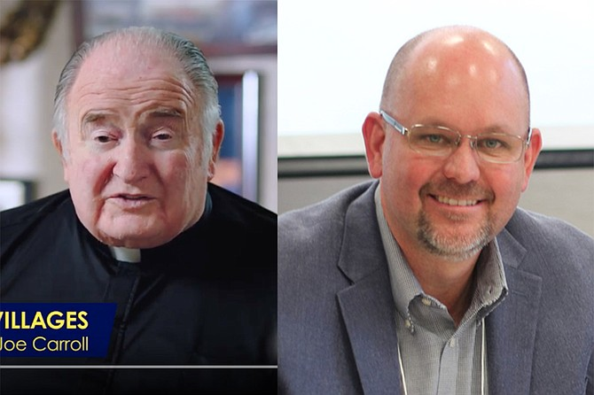 Father Joe Carroll in pro-C advertisements; Michael McConnell is spending big on Facebook to kill the measure