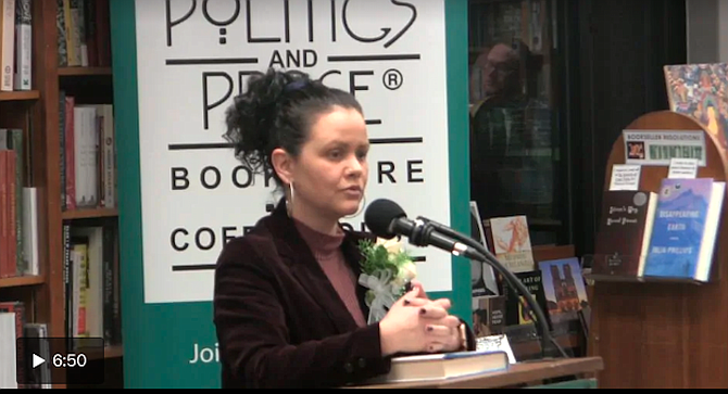 Cummins at Politics and Prose bookstore