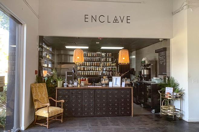 An alchemist food counter at Enclave, inside the Juneshine Hard Kombucha taproom