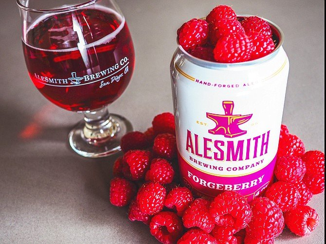 AleSmith's new brand refresh debuts with the low calorie, gluten reduced, raspberry flavored Forgeberry Ale.