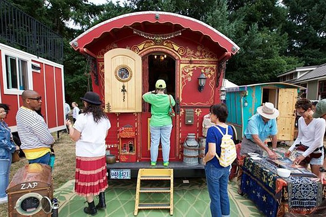 Tour tiny homes, shipping container homes, and Van Lifers, also workshops, live music, food and beer.