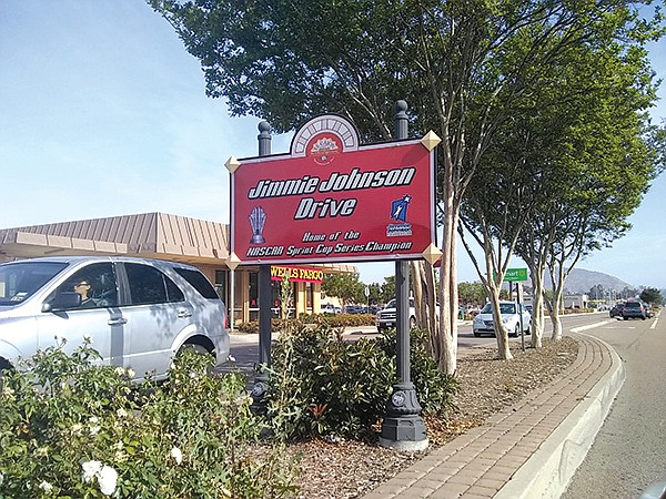 In 2010, controversy erupted when the City of El Cajon attempted to rename Johnson Avenue as Jimmie Johnson Avenue.