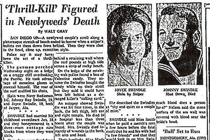 The 1964 murder of Johnny Ray and Joyce Swindle bears similarities to known Zodiac killings.