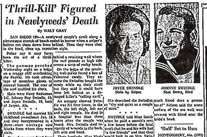 The 1964 murder of Johnny Ray and Joyce Swindle bears similarities to known Zodiac killings.