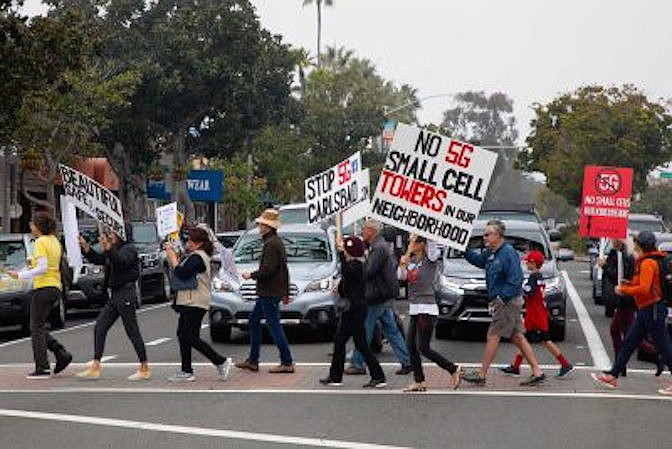 Carlsbad residents rallied in January.
