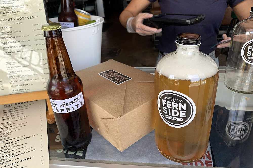 Bottle cocktails and growler fills now available with take out meals during the pandemic