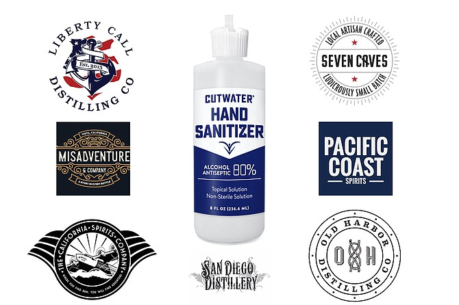 San Diego's distilleries have shifted to making and selling hand sanitizer, in addition to craft spirits.