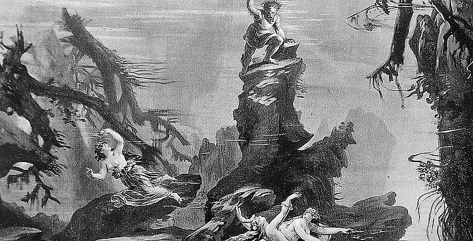 Depiction of Ring of the Nibelungen myth