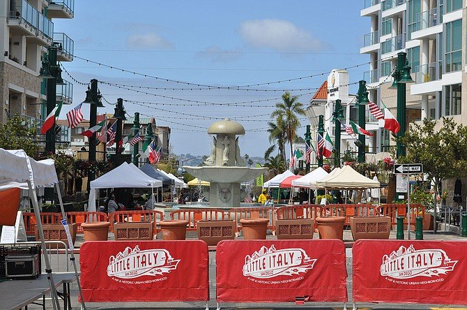 The Little Italy Saturday farmers market returned, with restrictions.
