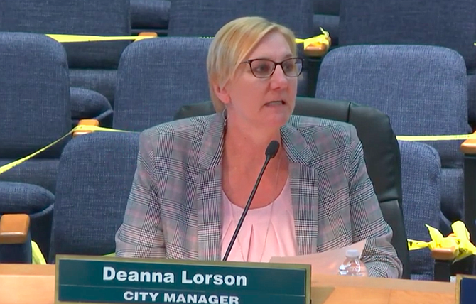 "Deanna Lorson: ""This press release was not issued by city staff."""